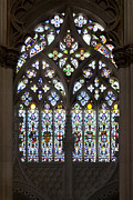 Stain Glass Framed Prints - Gothic stain-glass window Framed Print by Jose Elias - Sofia Pereira