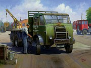 Old England Painting Prints - GPO Foden Print by Mike  Jeffries