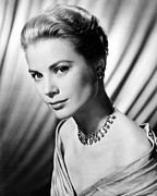 Kelly Photo Framed Prints - Grace Kelly Framed Print by Silver Screen