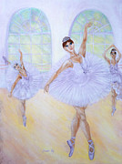 Ballet Dancers Painting Prints - Grace of Dance. Inspirations Collection. Print by Oksana Semenchenko