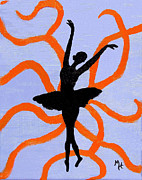 Poise Painting Prints - Graceful Silhouette Print by Margaret Harmon