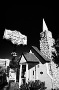 Wedding Chapel Posters - graceland wedding chapel on the downtown strip Las Vegas Nevada USA Poster by Joe Fox
