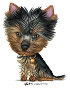 Terrier Dog Drawings Framed Prints - Gracie Framed Print by Danny Gordon