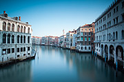 Vaporetto Posters - Grand canal at sunrise Venice Italy Poster by Matteo Colombo