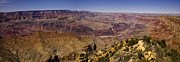 South Rim Framed Prints - Grand Canyon Panorama Framed Print by Andrew Soundarajan
