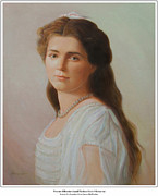 Duchess Painting Originals - Grand Duchess Maria Nikolaevna of Russia by George Alexander
