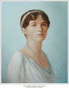 Duchess Painting Originals - Grand Duchess Olga Nikolaevna of Russia by George Alexander