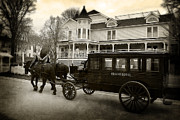 Horse And Buggy Photo Posters - Grand Hotel Taxi Poster by Scott Hovind
