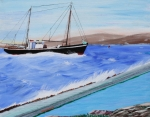 Rockport  Ma Paintings - Grandpas Boat by Bill Hubbard
