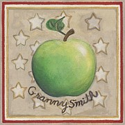 Granny Smith Apple Two Print by Linda Mears