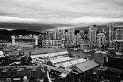 False Creek Prints - granville island public market and false creek waterfront Vancouver BC Canada Print by Joe Fox