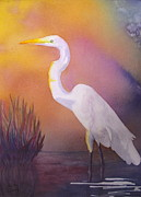 Nancy Jolley Art - Great Egret by Nancy Jolley