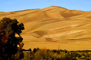 Sand Dunes Painting Framed Prints - Great Sand Dunes Framed Print by Steve Bailey