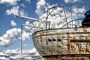 Tyre Metal Prints - Greek Fishing Boat Metal Print by Stylianos Kleanthous