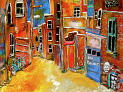 Michael Litvack Art - Green Laneway 2 by Michael Litvack