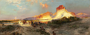 Thomas Moran - Green River Cliffs Wyoming by Thomas Moran