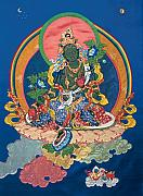 Applique Tapestries - Textiles Framed Prints - Green Tara  Framed Print by Leslie Rinchen-Wongmo