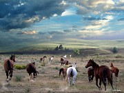 Horses Digital Art - Greener Pastures by Bill Stephens