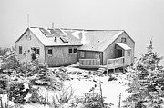 New England Snow Scene Metal Prints - Greenleaf Hut - White Mountains New Hampshire Metal Print by Erin Paul Donovan