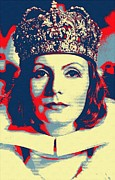 1933 Mixed Media - Greta Garbo in Queen Christina by Art Cinema Gallery
