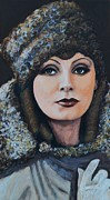 Film Painting Originals - Greta Garbo by Shirl Theis