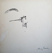 Slapstick Drawings - Groucho Marx by Henry Goode