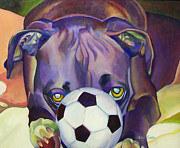 Boxer Painting Prints - Guard Dog Print by Adele Castillo