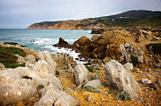 Atlantic Ocean Framed Prints - Guincho Cliffs Framed Print by Carlos Caetano