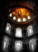 Jesus Christ Icon Prints - Hagia Sofia - Istanbul Turkey Print by Lilia D