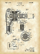 Blow Digital Art Prints - Hair Dryer Patent Print by Stephen Younts