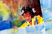 Dunn Framed Prints - Haiti School Girl Framed Print by John Dunn