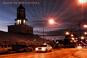 Halifax Art Work Metal Prints - Halifax Nova Scotia Metal Print by  Halifax Artist John Malone