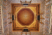 Tracery Framed Prints - Hall of Ambassadors in the Royal Alcazar of Seville Framed Print by Artur Bogacki