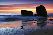 Rocky Prints - Hallett Cove Sunset 2 Print by Bill  Robinson