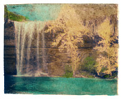 Hamilton Texas Prints - Hamilton Pool Print by Pauline Jacobson