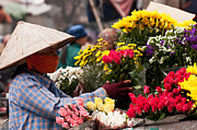 Southeast Asian Prints - Hanoi Flowers 03 Print by Rick Piper Photography