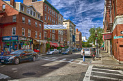 Boston North End Prints - Hanover St. Print by Joann Vitali