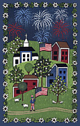 4th July Painting Prints - Happy 4th of July Print by Medana Gabbard