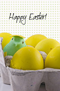 Happy Photo Framed Prints - Happy Easter Framed Print by Juli Scalzi