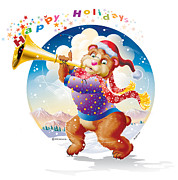 Ned Levine - Happy Holidays Bear