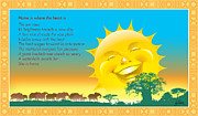 Elephants Digital Art Originals - Happy Sun by Ray Simpson