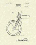 Shock Drawings Prints - Harley Absorber 1925 Patent Art Print by Prior Art Design