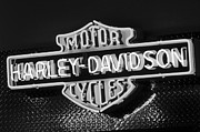 Harley Framed Prints - Harley-Davidson Neon Sign Framed Print by Jill Reger