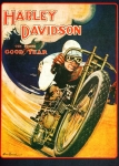 Harley Davidson Paintings - Harley Davidson by Pg Reproductions