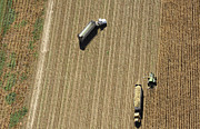 Agronomy Photos - Harvest, Great Plains by John Wark