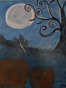 Haunted House Paintings - Harvest House by Debi Rideout