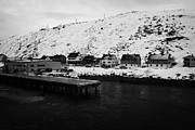 Norwegian Fishing Village Prints - Havoysund Hurtigruten Pier Finnmark Norway Europe Print by Joe Fox