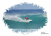 Ezekiel Framed Prints - Hawaiian Surfer Zeke Lau Framed Print by Scott Cameron