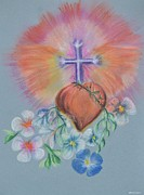 Jesus Pastels Prints - He Is Risen Print by Maria Urso