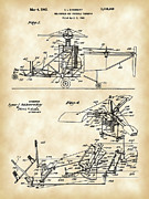 Parchment Framed Prints - Helicopter Patent Framed Print by Stephen Younts